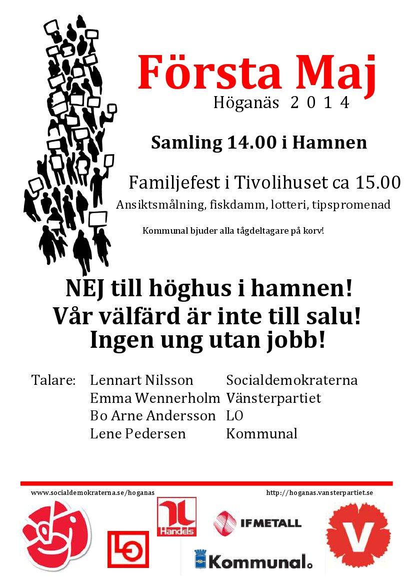 1 maj 2014-flygblad